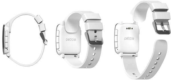 """Pebble Timeen voi vaihtaa erilaisia uusia toimintoja tuovia """"älykkäitä"""" rannekehihnoja."""