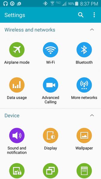 Onko Galaxy S5:n kuvakkeissa Tizen-vaikutteita?