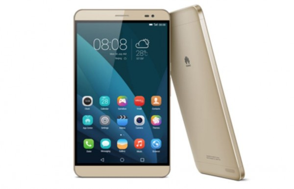 Huawei MediaPad X2 kultaisena
