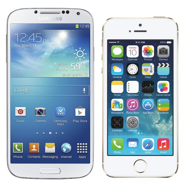 Galaxy S4 ja iPhone 5s