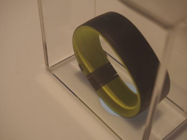 HTC:n Grip-aktiivisuusranneke ei ollut kokeiltavana, vaan piilossa muovilaatikon sisällä