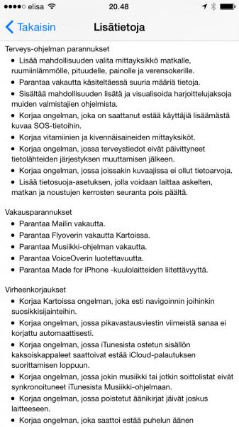 iOS 8.2 tuo paljon pieniä parannuksia ja uudistuksia.