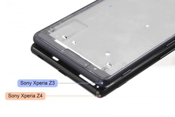 Xperia Z3:n ja oletetun Xperia Z4:n rungot vertailussa