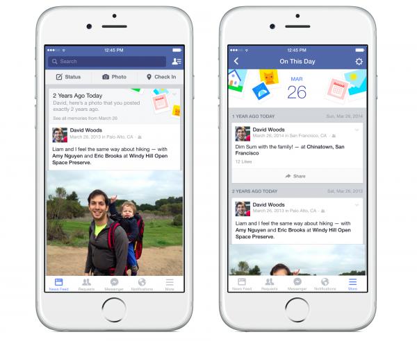Facebookin On This Day tuo esiin muistoja menneiltä vuosilta