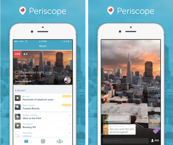 Periscope iPhonella