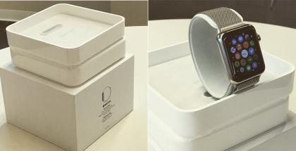 Apple Watch oletetussa myyntipakkauksessaan