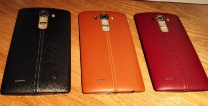 LG G4 ja Suomeen saapuvien nahkakuorien värivaihtoehdot: musta, ruskea ja punainen