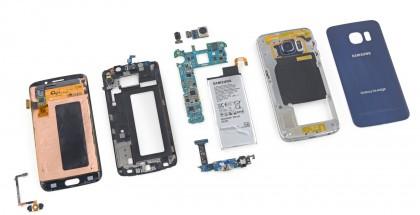Galaxy S6 edge paloiteltuna osiin