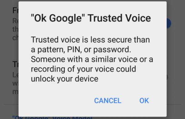 Googlen Trusted Voice -lukitusmenetelmä
