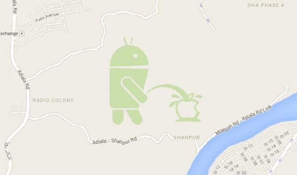 Google Maps pitää sisällään yllättävän huumorinkukan