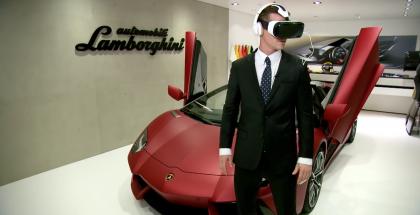 Lamborghini Huracán ja Samsung Gear VR - erilainen koeajo.