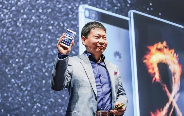 Huawein Richard Yu aiemmassa julkistustilaisuudessa.