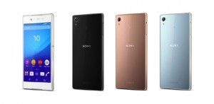 Sony Xperia Z3+:n eri värivaihtoehdot
