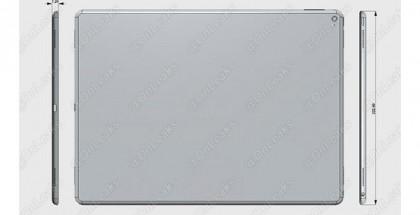 Vuotokuvassa mallinnus toistaiseksi julkaisemattomasta isosta iPad-mallista, joka on ulkomitoiltaan selvästi nykyisiä iPad-malleja suurempi.