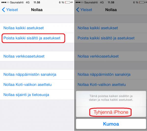 Ohjejuttu iOS