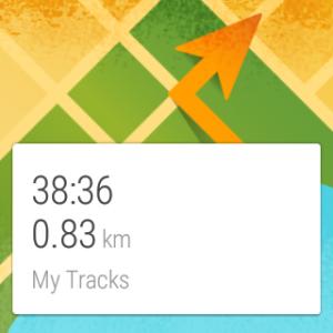 Googlen My Tracks tarjoaa tietoa suoraan kellon GPS:stä kuljetusta matkasta.