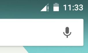 Ongelmien vuoksi puhelinverkkoyhteyslogon kohdalle ilmestyy huutomerkki
