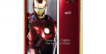 Eräs mahdollinen väritys tulevasse Iron Man -teemaiselle Galaxy S6:lle
