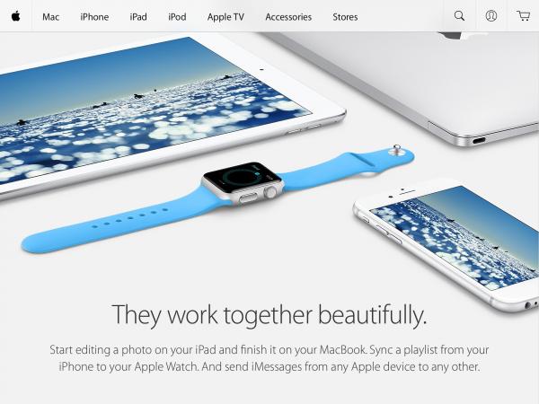 Apple Store -sovelluksen aloitusnäkymä iPadilla