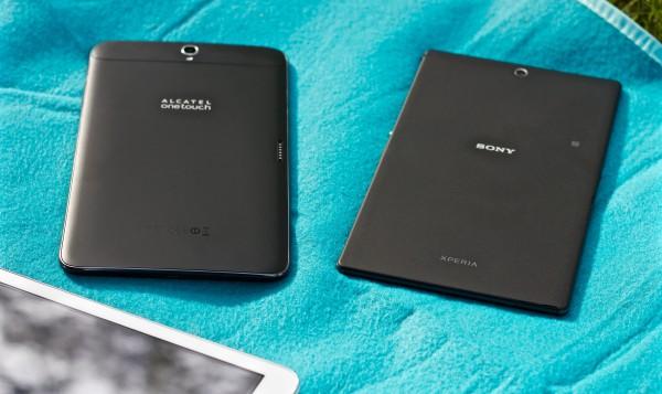 Vertailun pienimmät, Alcatel ja Sony.
