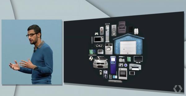 Sundar Pichai ja Google haluavat yhdistää arkiset esineet tietoverkkoon.