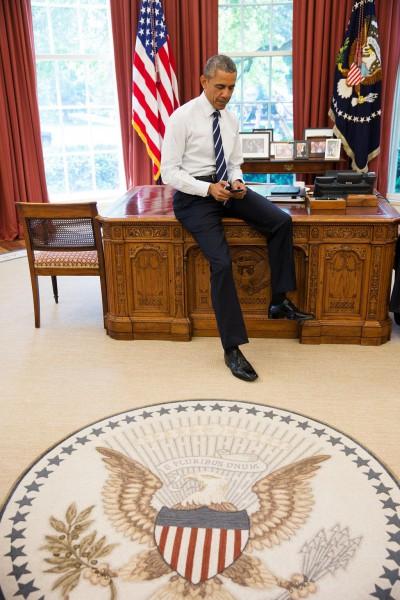Presidentti Obama Twitterin äärellä
