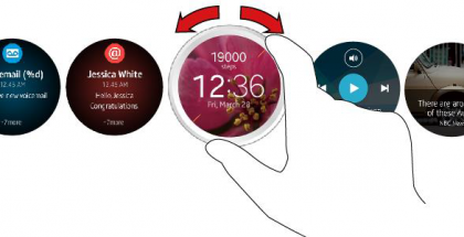 Samsungin tulevan älykellon käyttöliittymä havainnollistettuna.