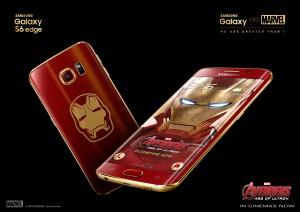 Samsung Galaxy S6 edge Iron Manin väreissä.