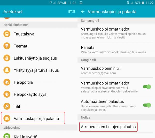 Ohjejuttu Android