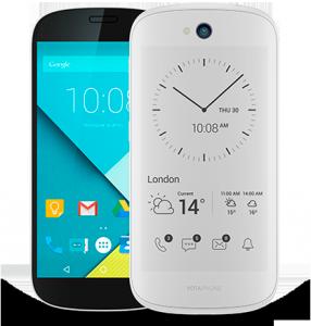 YotaPhone 2 valkoisena