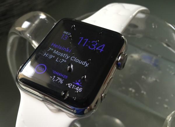 Apple Watch kestää vettä - lenkillä ei ole huolen häivää