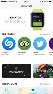 Apple Watch -sovelluksen sovelluskauppa