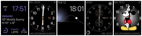 Kellotauluja: Modular, Utility, Solar, Chronograph, Mickey