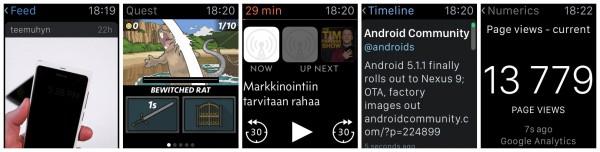 Instagram + suomalainen Rubeblade-peli + podcastien Overcast + Twitter + Numerics