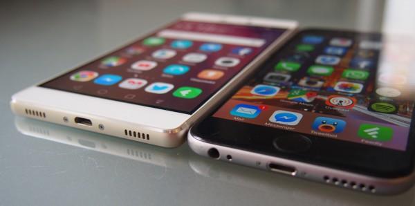 iPhonen muotokielellä on ollut vaikutuksensa laajemminkin älypuhelimiin. P8:n kyljissä on vielä enemmän aiemmista iPhone-sukupolvista tuttua kulmikkuutta ja kromireunustusta.