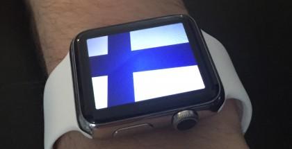 Apple Watch + Suomen lippu