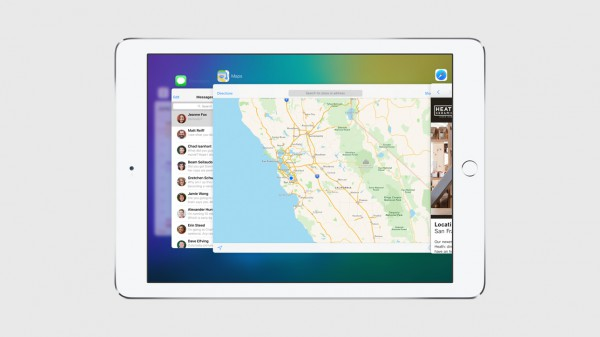 Sovellusten välillä siirryttäessä iOS 9 tarjoaa aiemmasta poikkeavan näkymän.