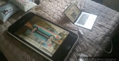 30-tuumainen iPhone 3G toimii hyvin Macbookin näyttönä.
