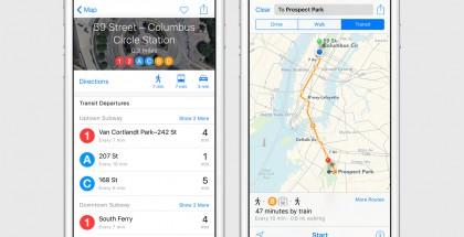 Apple tuo Kartat-sovellukseen julkisen liikenteen tiedot valituissa kaupungeissa