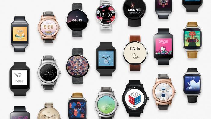 Android Wear -kellotauluja.