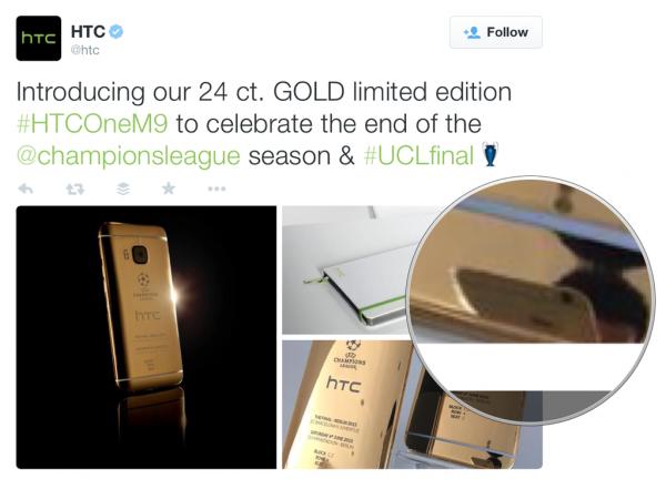HTC:n nolo SoMe-moka jäi elämään omaa elämäänsä kuvakaappauksena.