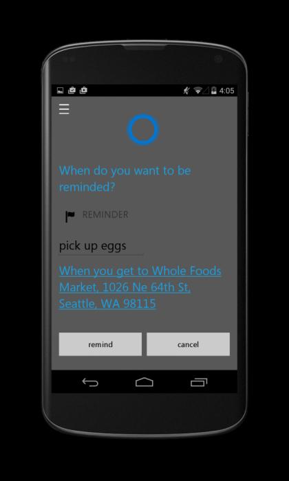 Cortana Androidilla