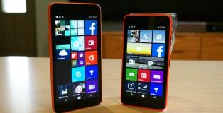 Vasemmalla edullinen jättiläinen Lumia 640 Xl ja oikealla viisituumainen perusälyluuri Lumia 640