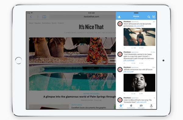iOS 9:n Slide Over