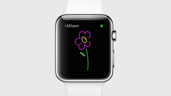 Piirrettävissä toiseen Watch-kelloon lähetettävissä viesteissä voi nyt käyttää useampaa eri väriä