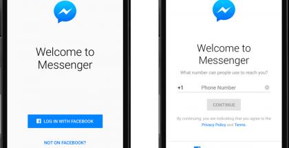 Facebook Messengerin käyttö onnistuu tietyillä alueilla myös ilman Facebook-tiliä