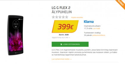 LG G Flex 2 maksaa nyt alle 400 euroa