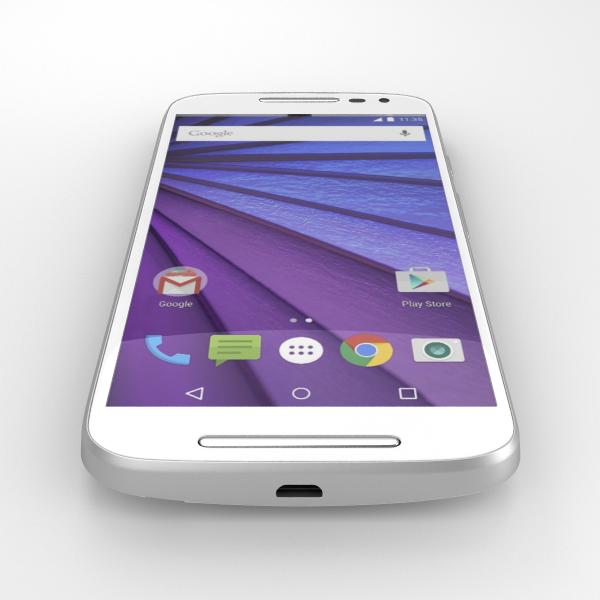 Motorolan Moto G (2015) renderöidyssä kuvassa