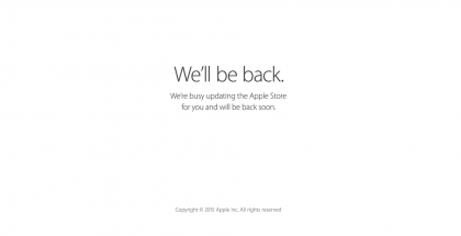 Apple sulki verkkokauppansa tänään tilapäisesti.