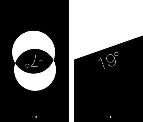 Kuvakaappauksia iPhonen vatupassista